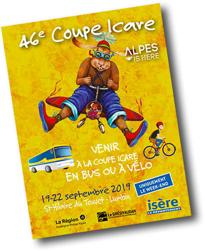 COME TO THE ICARE BUS OR BICYCLE CUP